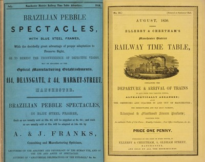 Lot 68 - Railway Guides. Ellerby & Cheatham's Manchester District Railway Time Table