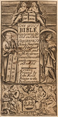 Lot 77 - Bible [English]. The Holy Bible containing the Old and New Testaments, London: John Field, 1653