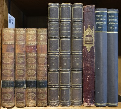Lot 58 - Storer (James). History & Antiquities of the Cathedral Churches of Great Britain, 1814-19, & others