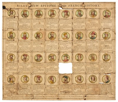 Lot 459 - Jigsaw. Riley's New Epitome of the French History, circa 1790