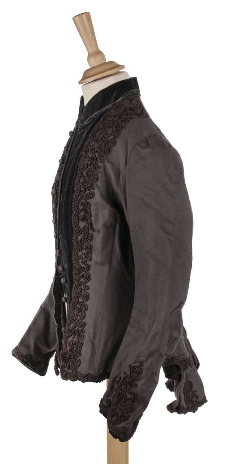 Lot 296 - Clothing. A lady's bustle bodice, Paris: Emile Pingat, circa 1880s, and other garments