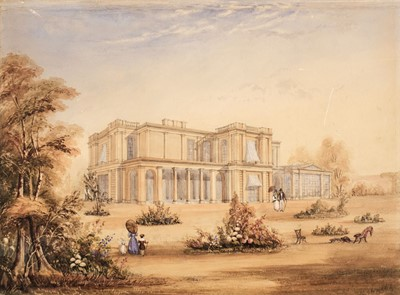 Lot 23 - Gantz (Justinian Walter, 1802-1862, attributed). Madras mansion, circa 1830's, watercolour