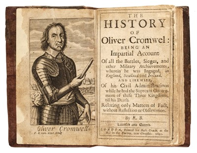 Lot 84 - Cromwell (Oliver) - [Crouch, Nathaniel]. The History of Oliver Cromwel, 1692