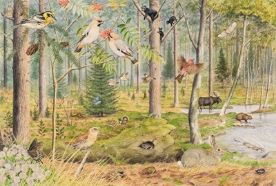 Lot 489 - Barrett (Peter, 1935). American Woodland Glade