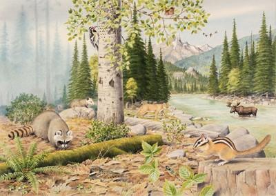Lot 491 - Barrett (Peter, 1935). North American Mountain Landscape