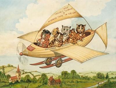 Lot 509 - Wain (Louis, 1860-1939). Flying Cats