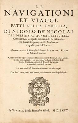 Lot 127 - Nicolay (Nicolas de, sieur d'Arfeville). Le navigationi et viaggi fatti nella Turchia
