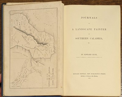 Lot 20 - Lear (Edward). Journals of a Landscape Painter in Calabria, 1852