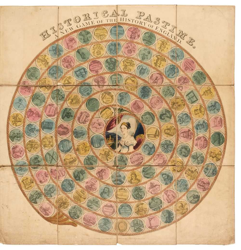 Lot 454 - Victorian Board Game. Historical Pastime, A New Game of the History of England... , c. 1840