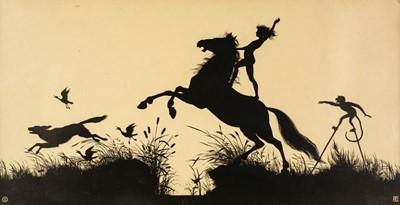 Lot 498 - Diefenbach (Karl Wilhelm, 1851-1913). Three large silhouette prints