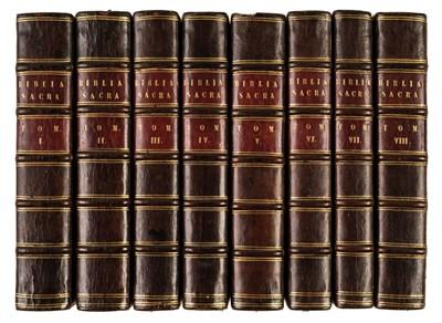 Lot 81 - Bible [Latin]. Biblia Sacra, Vulgatae Editionis, Sixti V. Pont. Max., 8 vols., Paris, 1651-52