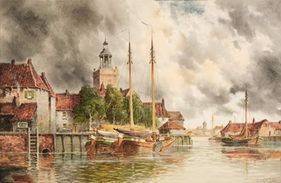 Lot 347 - Van Staaten (Louis, 1836-1909). Enkhuizen, and Dordrecht