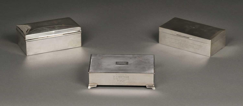 Lot 10 - Cigarette Boxes. Silver boxes