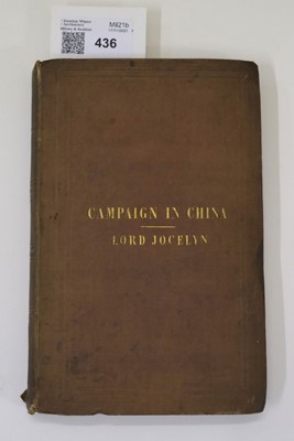 Lot 31 - Jocelyn (Robert). Six Months with the Chinese Expedition, 1841