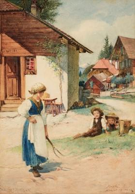 Lot 376 - Morgan (Walter Jenks, 1847-1924). A Swiss Village, Bernese Oberland, 1893