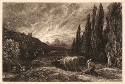 Lot 397 - Palmer (Samuel, 1805-1881). The Early Ploughman or The Morning Spread upon the Mountains, 1861