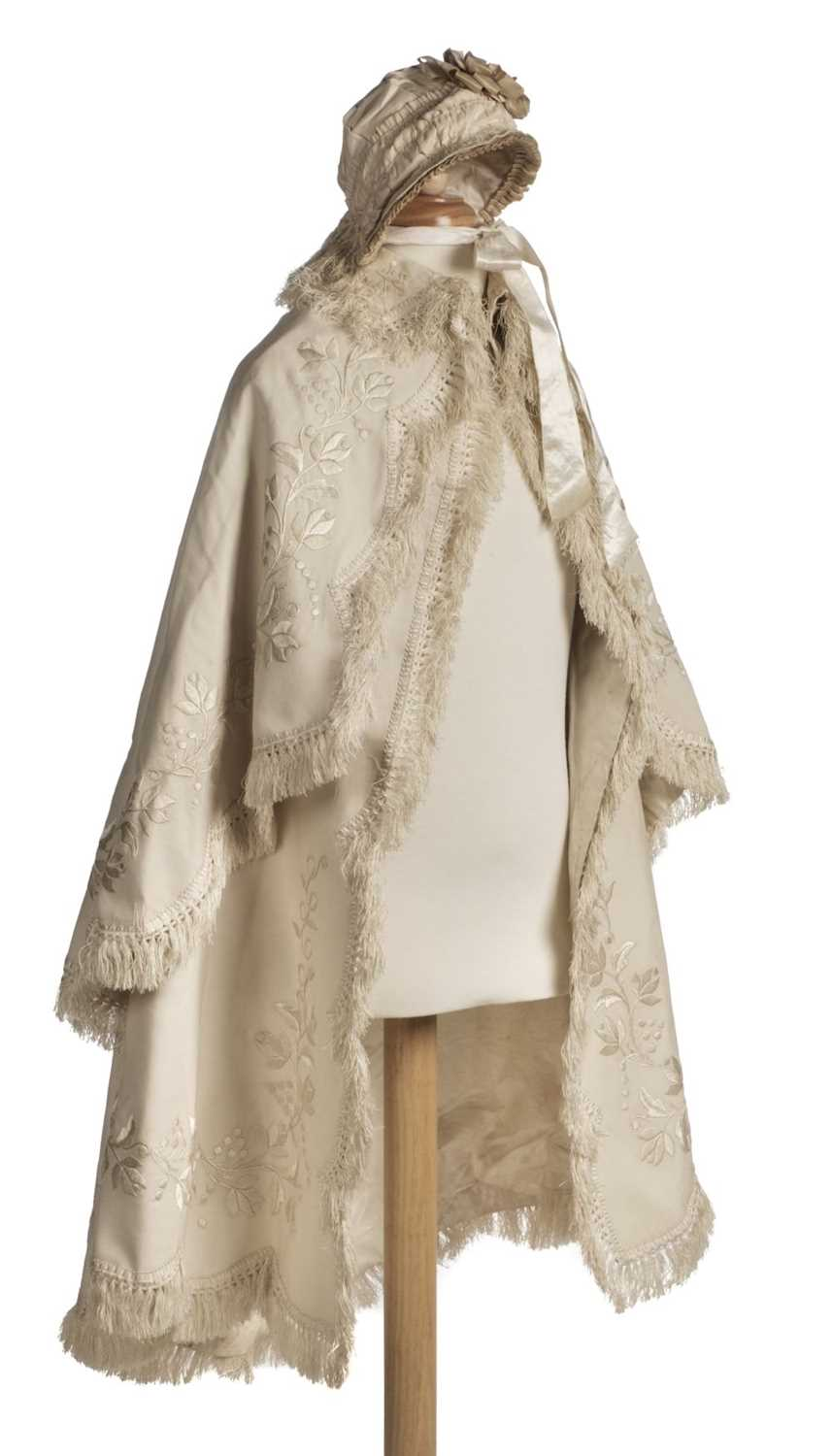 Lot 288 - Children's clothes. A christening cape, late Victorian or Edwardian