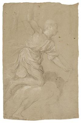 Lot 18 - Domenichino (1581-1641). Study of male figure, & Study of an angel, 17th century