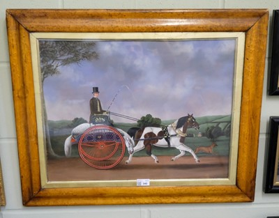 Lot 340 - Naive School. Horse and Phaeton with driver