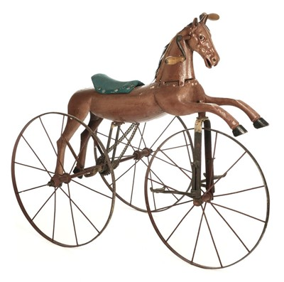 Lot 78 - Velocipede. French horse tricycle circa 1890