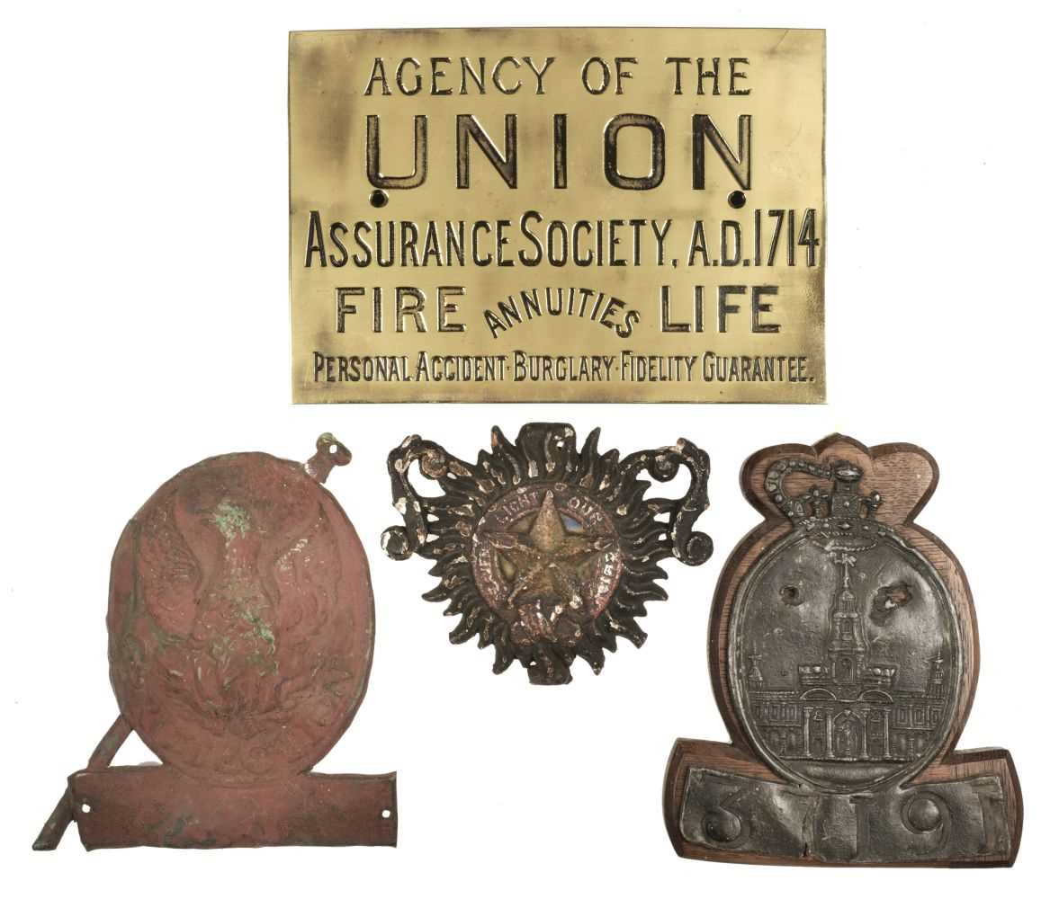 Lot 53 - Firemarks. Royal Exchange fire mark and others
