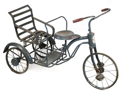 Lot 76 - Tricycle. Burmese child's tricycle circa 1950