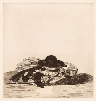 Lot 399 - Manet (Édouard, 1832-1883). Chapeau et Guitare