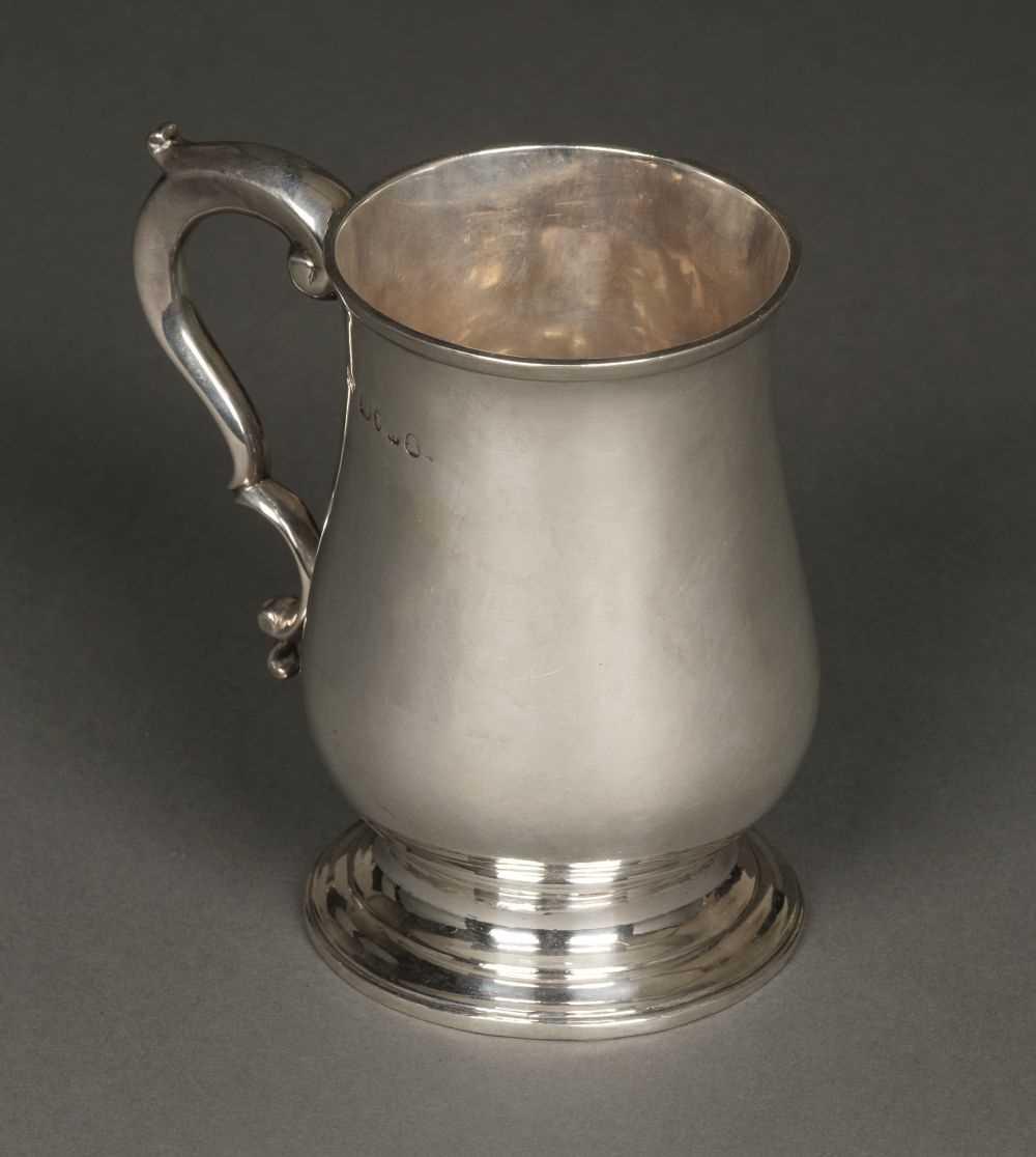 Lot 31 - Tankard. George II silver tankard by William Bateman I, London, 1779
