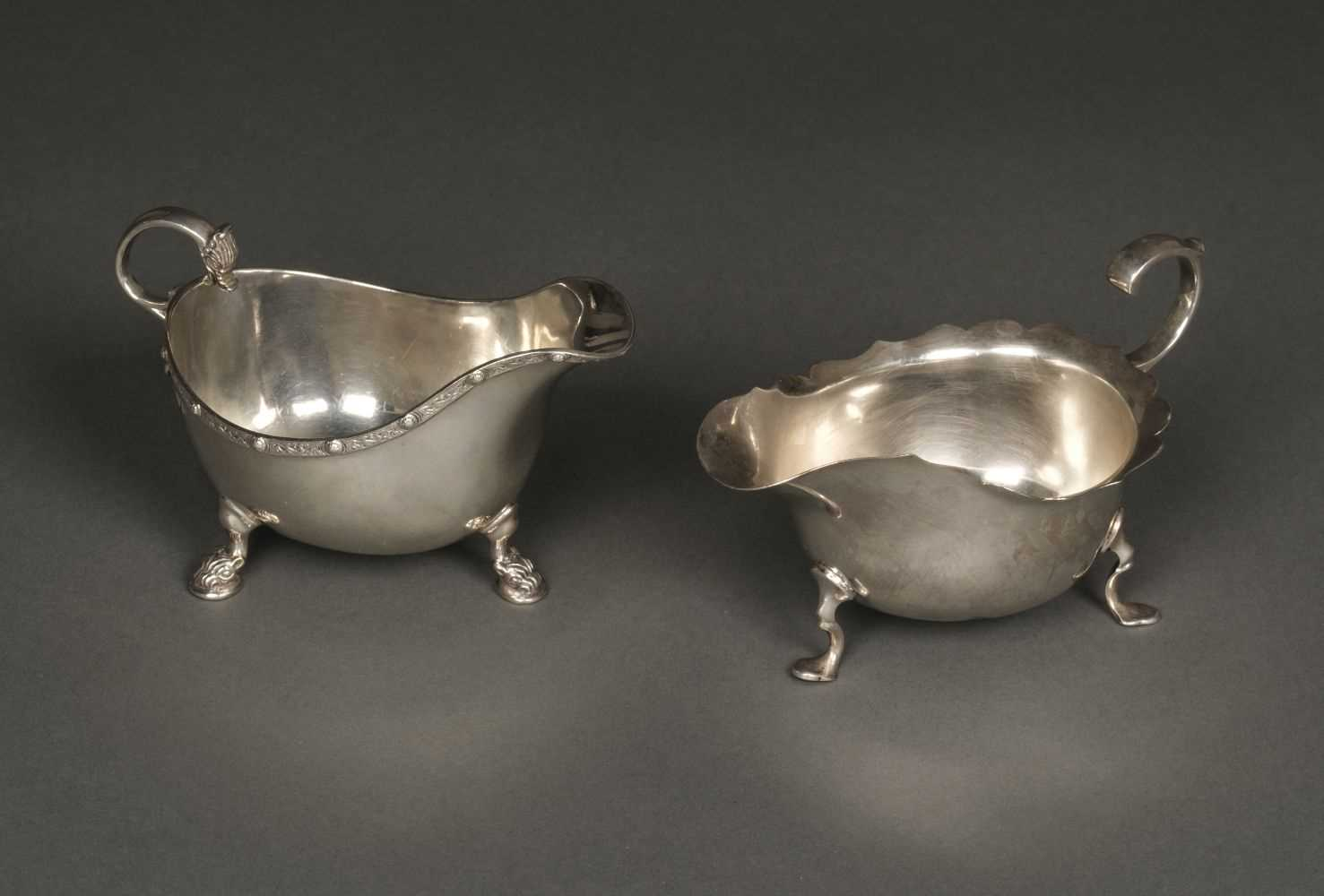Lot 30 - Silver Sauce Boats, both 20th century
