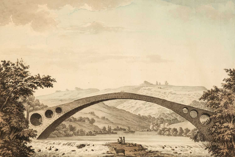 Lot 349 - Grimm (Samuel Hieronymus, 1733-1794). The Old Bridge, Pontypridd, circa 1770s-80s