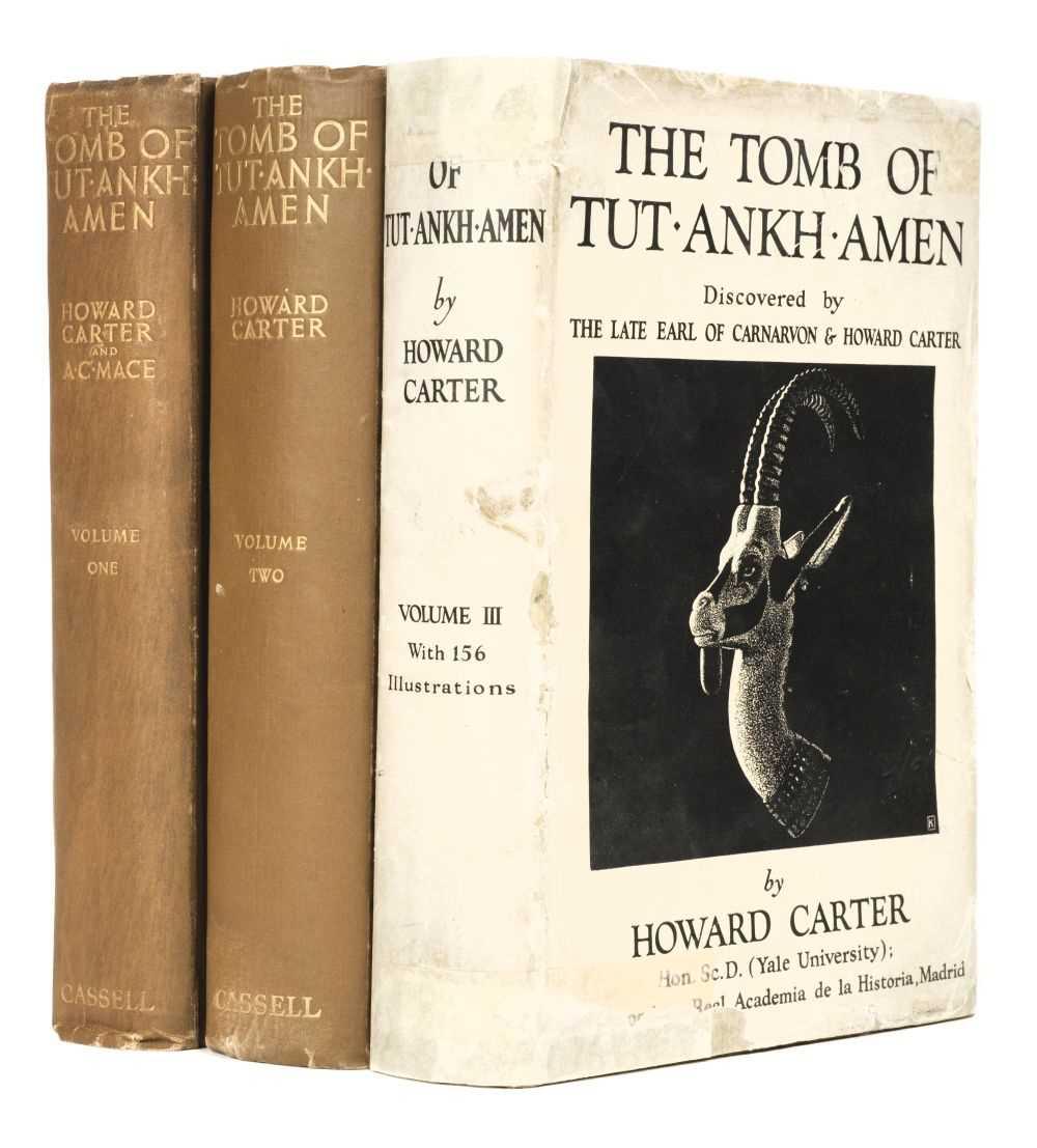 Lot 10 - Carter (Howard & A.C. Mace). The Tomb of Tut-Ankh-Amen, 3 volumes, 1923-33