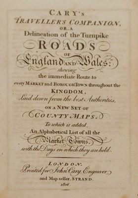 Lot 19 - Cary (John). Cary's Traveller's Companion, 1806