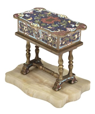 Lot 64 - Patch Box. Champlevé table box