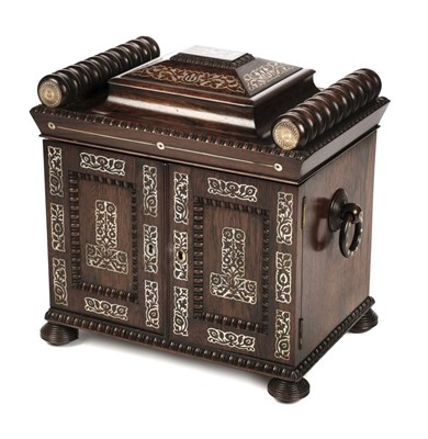 Lot 72 - Table Cabinet. Regency rosewood table cabinet