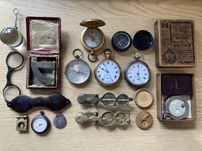 Lot 88 - Compasses and Pocket Watches