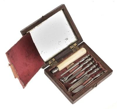 Lot 89 - Dental Hygiene Set. Victorian dental set