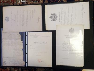 Lot 279 - Military Ephemera. A collection of European military documents, circa 1870s/1940s