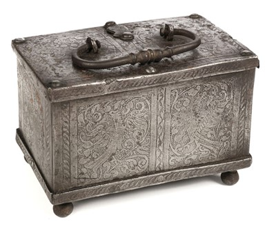 Lot 47 - Casket. German Nuremberg casket, probably 17th century