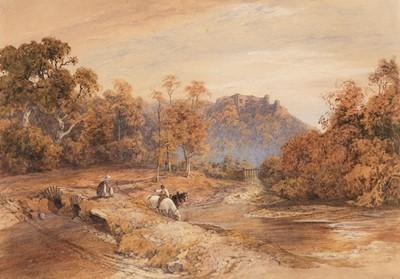 Lot 360 - Davidson (Charles R.W.S., 1824-1902). Berry Pomeroy Castle, Devon