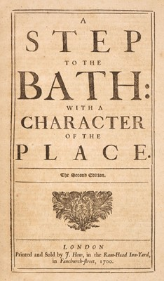 Lot 79 - Ward (Edward). A step to the Bath: with a character of the place, 2nd edition, 1700