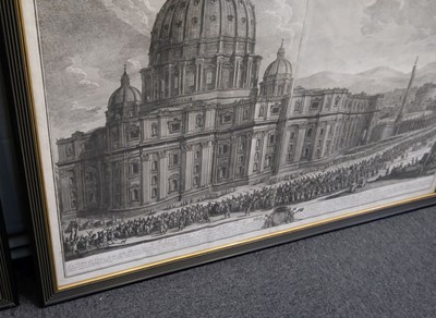 Lot 317 - Vasi (Giuseppe, 1710-1782). Two etchings, 1775 & 1778