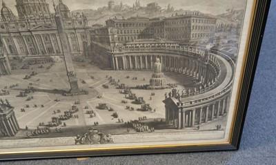 Lot 315 - Vasi (Giuseppe, 1710-1782). Prospetto principale del Tempio e Piazza di S. Pietro, 1774