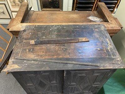 Lot 202 - Cabinet on Stand. 18th century ebonised cabinet on stand