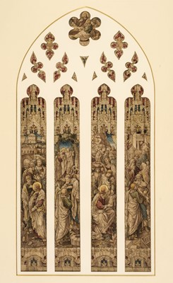 Lot 370 - Heaton, Butler & Bayne. Design for a stained glass window, 19th century