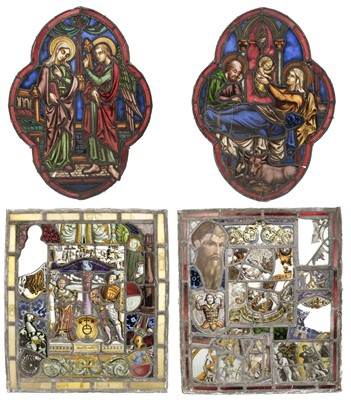 Lot 70 - Stained Glass. Two Victorian stained glass panels