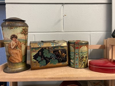 Lot 41 - Advertising Tins. Huntley & Palmers and others