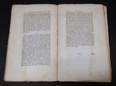 Lot 12 - Crantz (David). The History of Greenland, 2 volumes, 1str edition, 1767