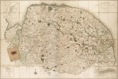 Lot 160 - Norfolk. Donald (T. & Milne T.), A Topographical Map of the County of Norfolk, 1797