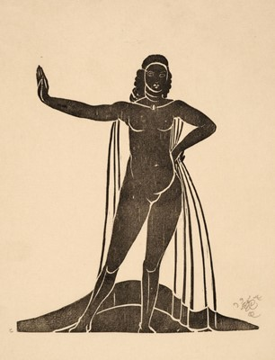 Lot 407 - Craig (Edward Henry Gordon, 1872-1966). Black Girl, 1914
