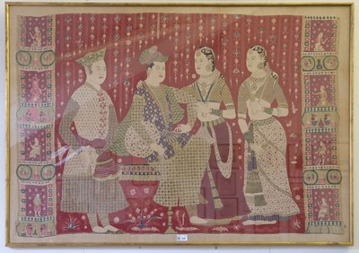 Lot 258 - Indian. A large printed textile panel, early-mid 20th century